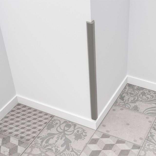 PROTECTIVE CORNER PROFILE PVC 25x25, 1m / GREY